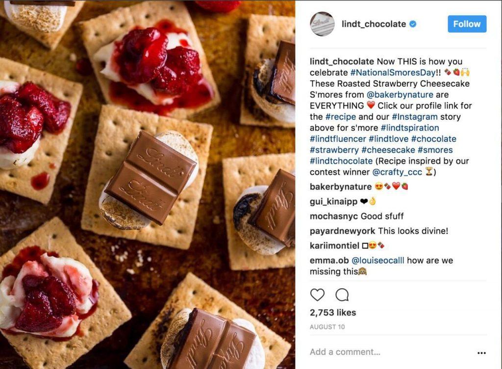 شکلات اینستاگرام : برند لینت