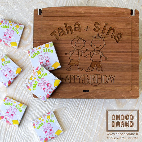 جعبه شکلات برای تولد