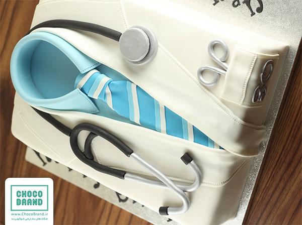 کیک روز پزشک با طرح دکتر