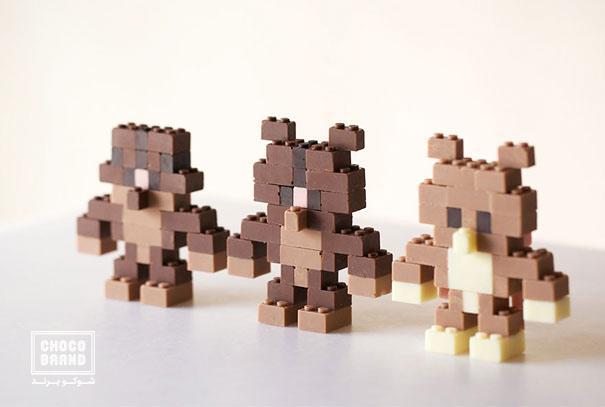 شکلاتهایی به شکل lego