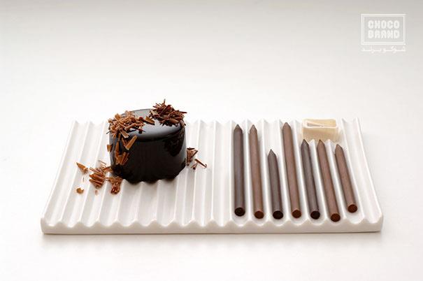 مدادهای خوشمزه شکلاتی
